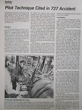 7/1972 ARTICLE 10 PAGES NTSB BOEING 727-200 TRANS CARIBBEAN AIRWAYS ACCIDENT