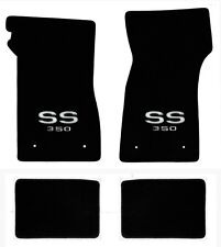 NEW! 1967-1969 Camaro Floor Mats Black Set of 4 Carpet Embroidered SS 350 Logo