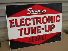 Vintage 1960's Snap On Tools Electronic Tune Up Service Metal Advertising  Sign