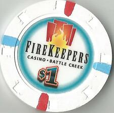 FIREKEEPERS  BATTLE CREEK  MI  CASINO $1  EXCELLENT CONDITION  HOUSE CHIP