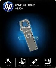 HP USB 2.0 64GB 250W LOCK HOOK Flash Pen Drive | Data Memory Stick | Metal Drive