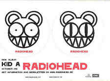 Radiohead - Kid A Rare Parlophone Postcard/Promosticke