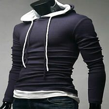 Mens Korean-Designer  Double string hoodie Casual T-shirt_Charcoal / size- XS