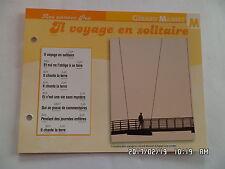 CARTE FICHE PLAISIR DE CHANTER GERARD MANSET IL VOYAGE EN SOLITAIRE