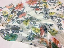 ROBERTO CAVALLI 100% Silk Chiffon FABRIC, MADE IN ITALY CM 146 x 140