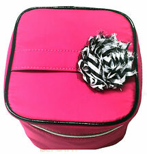 Lancome Macy's 2015 Pink Cosmetic Makeup Train Case Bag Travel Organizer