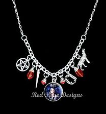 ~ BUFFY THE VAMPIRE SLAYER THEMED STATEMENT CHARM NECKLACE~
