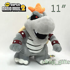 New Super Mario Bros. 2  Dry Bowser Plush Soft Toy Stuffed Animal Doll Teddy 11""