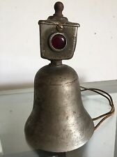 RARE VINTAGE 1917 BRASS LIBERTY BELL CLEVELAND FIRE TRUCK TROLLY ELECTRIC WORKS