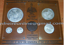 Mexico 2000 Felipe V 20 + 10 + 5 +1 + 1 oz 37 ounce Mejico / Mexiko Mexique onza