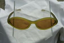 Authentic Vintage PRADA Sunglasses SPR 03A 2AA-6A1 Olive / Brown Cat Eye Italy