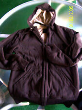 NWT MENS SZ SMALL 34/36 COCOA BROWN ZIP UP LINED HOODIE L@@K!!!