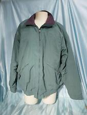 Vintage US Made Green Fleece Lined PATAGONIA Light Weight Zip Front Jacket Sz L
