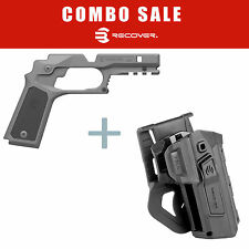 Recover Tactical 1911 Grip and Rail System w/ Panels +Level 2 Holster CC3P HC11R