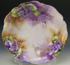 BEAUTIFUL SUPER LIMOGES HAND PAINTED VIOLETS BOWL