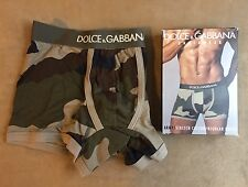 DOLCE & GABBANA COTTON GREEN CAMOUFLAGE ARMY REGULAR BOXER BRIEF UNDERWEAR XS 3