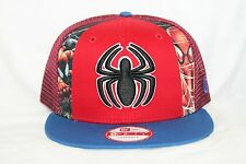New Era Spiderman Marvel Hero Slice Snap Back Snap Back Adjustable Mesh Hat Cap
