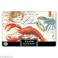 Michel Design Works 17 x 11 Paper Placemats Pad/25  Lobster - NEW