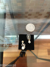 Gold plated musical note and violin earrings-small-NWOT