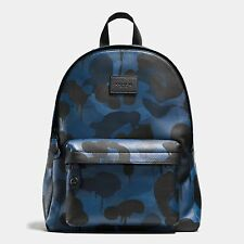 COACH  Campus Backpack in Printed Pebble Leather Wild Beast Baseman 72063 $550