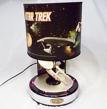 RARE!  2009 Star Trek TOS Enterprise Table Lamp w LEDs Plays Theme Rabbit Tanaka