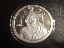 1 OZ 2016 LAKOTA PROOF SILVER COIN  .999 Silver AOCS CRAZY HORSE NATIVE AMERICAN