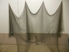 10'X20' BLACK NAUTICAL NET DECOR-DECK-YARD-MARITIME, RECYCLED FISHING NET #misc