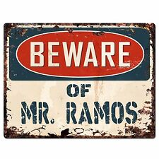 PP2225 Beware of MR. RAMOS Plate Chic Sign Home Store Wall Decor Funny Gift