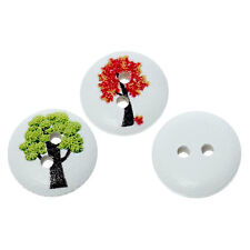 10 Mezclados Botones de Madera de diseño de árbol 15mm Coser Manualidades Accesorios Gratis Reino Unido P&p