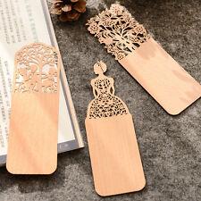 Segnalibro in materiale legno sottile elegante taglia con laser Ideale regalo