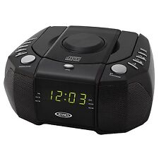 Jensen Jcr310 Top Loading Am/fm Pll Stereo Cd Dual Alarm Clock Radio With 0.6-i