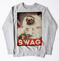 NEW SLOTH SWAG SWEATSHIRT MEN DOPE SWAG HIPSTER OBEY UNISEX ASTRONAUT FUNNY