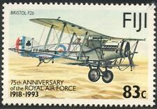 BRISTOL F2b Biplane Fighter / RAF Airplane Aircraft Mint Stamp (1993 Fiji)