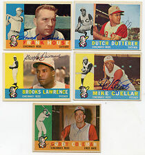 CINCINNATI REDS 1960 Topps Partial Signed Team Set 15 Dif CUELLAR DOTTERER +