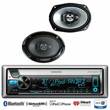 "KMRD765BT Bluetooth iPod CD USB Radio, 2 Kenwood 6x9"" Car 3Way Coaxial Speakers"