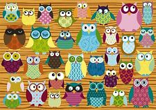 Owls: Schmidt Owl Collage 500 piece Jigsaw Puzzle 58196