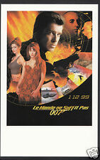 James Bond 007 Movie Postcard - French Poster For The World Is Not Enough  DP92