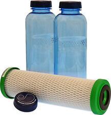 Carbonit NFP Premium Filter und 2 x 0,75 Liter Flasche für den Durst unterwegs