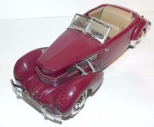 FRANKLIN MINT 812 ~ 1937 CORD PHAETON COUPE - 1/24 SCALE ~  FREE SHIPPING