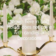 1 piece Wedding Unity Candle holder Gold or Silver (Your Choice)