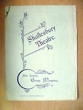 1904 Shaftesbury Theatre Programme- THE FLUTE OF PAN by John Oliver Hobbes