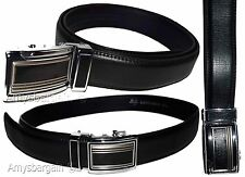 "Men's belt, 38"" Genuine Leather Dress Belt, Click Comfort. Automatic Lock.buckle"