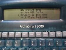 AlphaSmart 3000 Personal Portable Word Processor Keyboard w/ New USB Cable