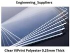 ViPrint Transparent Clear 0.25mm Thick Polyester Plastic Sheet A5, A4 & A3