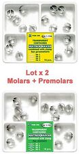 Lot X 2 Dental Transparent Contoured Matrices Combined with Clamp molar premolar