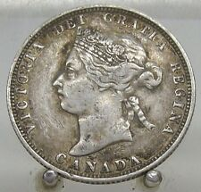 1883 H Canada Silver Quarter, Old Sterling Silver 25 Cent Coin