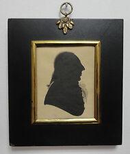 Antique 18th Century Silhouette Portrait of Richard Jones of Llanerchrugog Hall