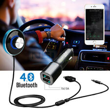 Bluetooth 4.0 Wireless Music Receiver 3.5mm AUX Adapter Car Hands-free Speaker