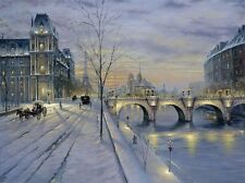 Paris winter DIY PDF Cross Stitch Pattern