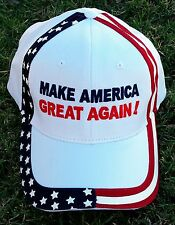 """MAKE AMERICA GREAT AGAIN!"" Donald Trump Slogan White Hat PRICE REDUCED!!"